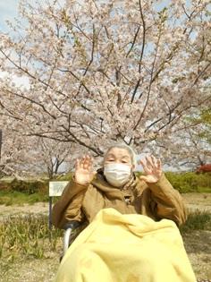 桜も満開♪【グループホーム幸せふくろう】